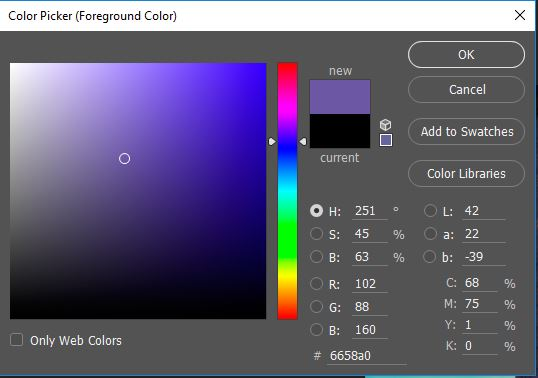 Selector de color de photoshop