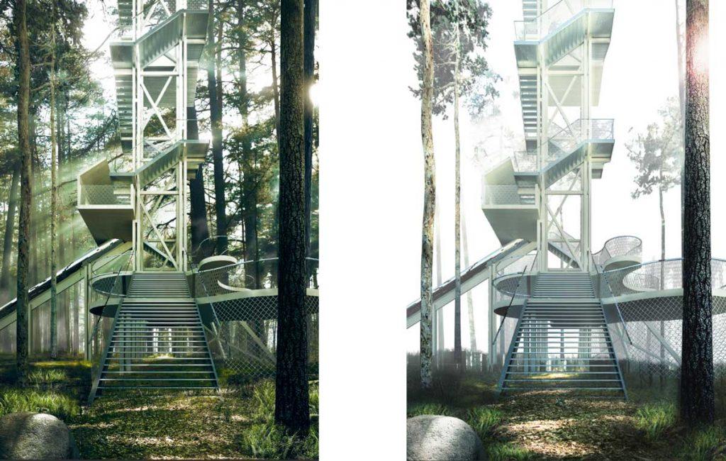 efecto niebla arquitectura