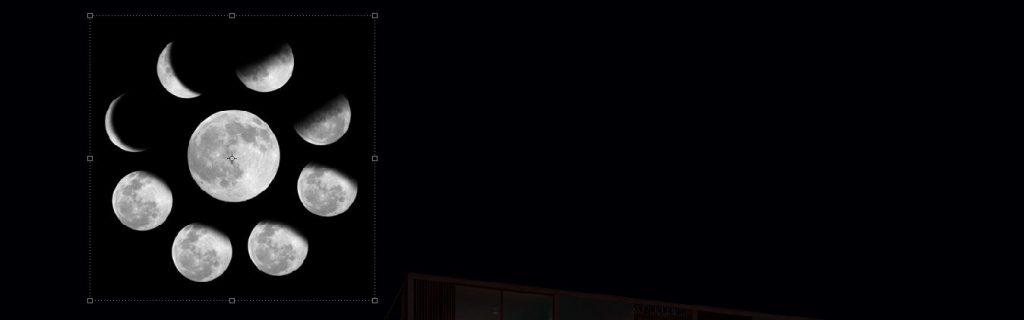 insertar luna en photoshop