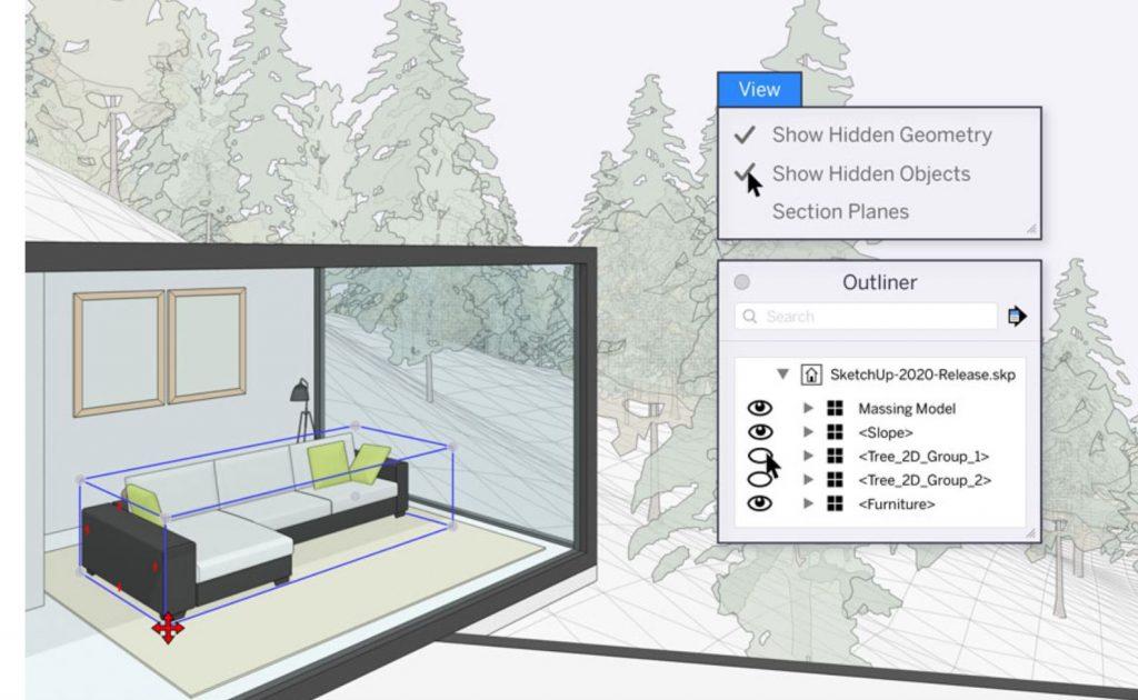 nueva ventana de esquema sketchup